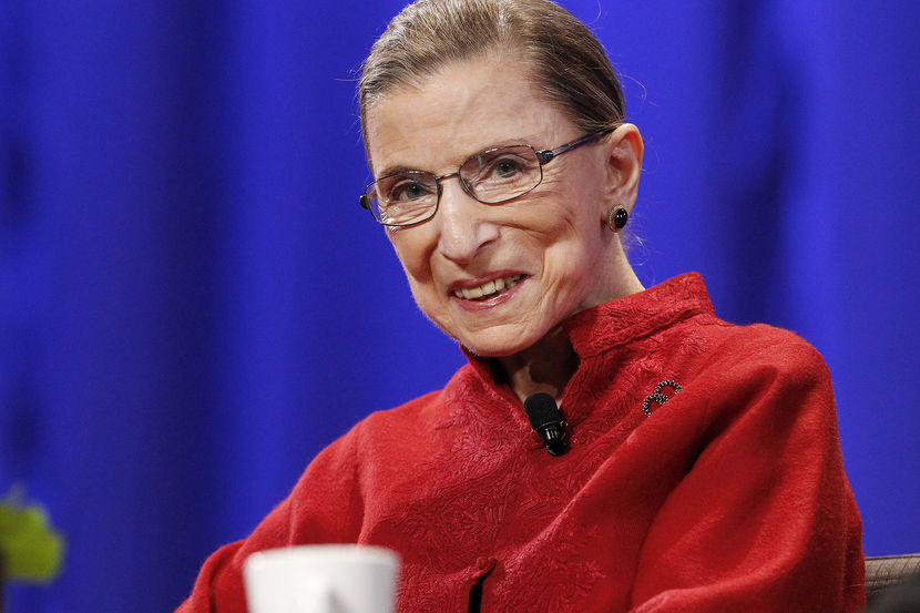 Justice Ginsburg attends the lunch session of The Women's Conference in Long Beach