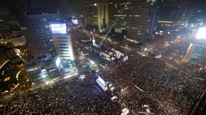 More Than A Million March In Seoul Demanding Presidents Resignation