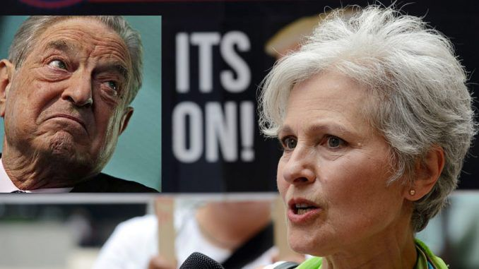 Jill Stein's fundraising campaign to pay for re-counts in three key swing states has been exposed as a George Soros and Hillary Clinton plot to steal the presidency from Donald Trump.