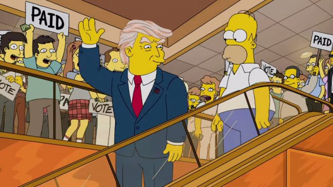 Simpsons producers reveal how they knew Donald Trump would win the US presidency