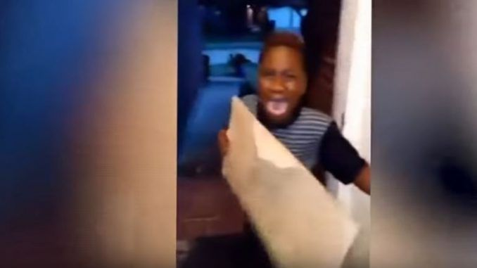 A shocking video of a mother kicking out her 8-year-old son from the family home for supporting Donald Trump has sparked a police investigation.