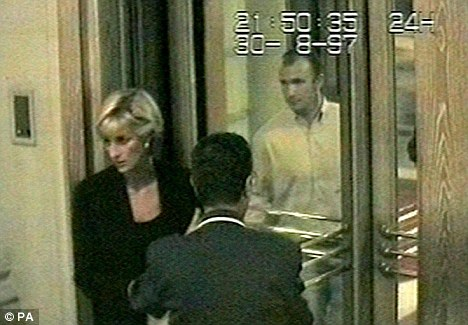 Princess Diana's final moments captured on CCTV shortly after The Queen allegedly told senior palace staff that Diana had to be 'purged'.