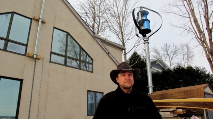 Man arrested after using wind turbine on his own private property