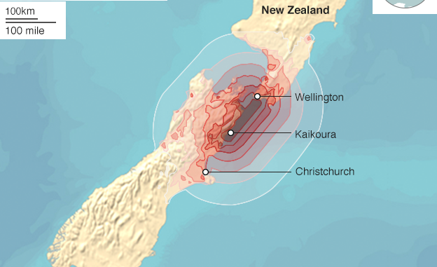 New Zealand Hit With Strong Aftershocks Following Severe Earthquake