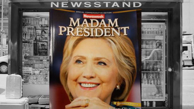 Newsweek print thousands of Clinton victory special editions to ship to newsstands ahead of election