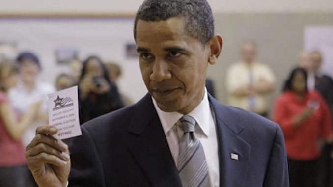 Barack Obama has gone on record encouraging illegal immigrants to vote in the United States presidential election.