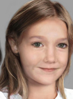 According police sketches, this is what Madeleine McCann may have looked like in 2013.