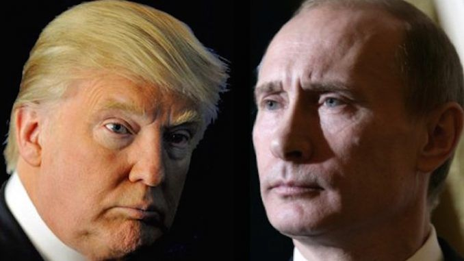 "Putin has sent his congratulations to President Trump for helping to defeat the ""New World Order"" - an emerging totalitarian world government"