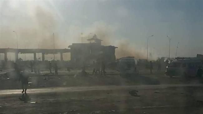 The photo shows the site of a blast at a gas station near Hilla, south of the Iraqi capital, Baghdad, November 24, 2016.