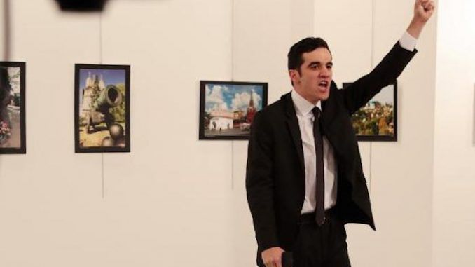 The Turkish police officer who shot dead Russian ambassador Andrey Karlov was a U.S. double agent tasked with destroying relations between Russia and Turkey.
