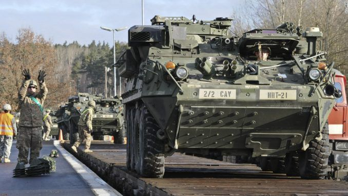 US army tanks deployed to Europe as a war with Russia looms