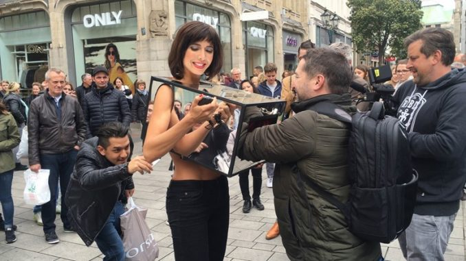 A Swiss artist and psychologist has responded to the spate of migrant sex attacks in Germany by allowing anybody to feel her breasts.