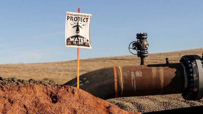 Thousands of gallons of crude oil spilled over Dakota Access protestors camp