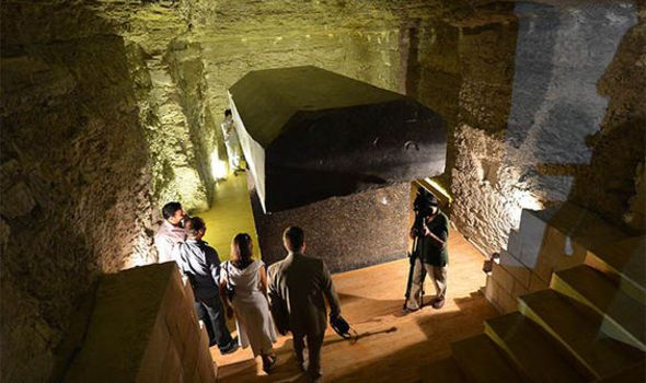 The tombs are believed to be the burial places of Apis bulls, worshipped as deities in Ancient Egypt