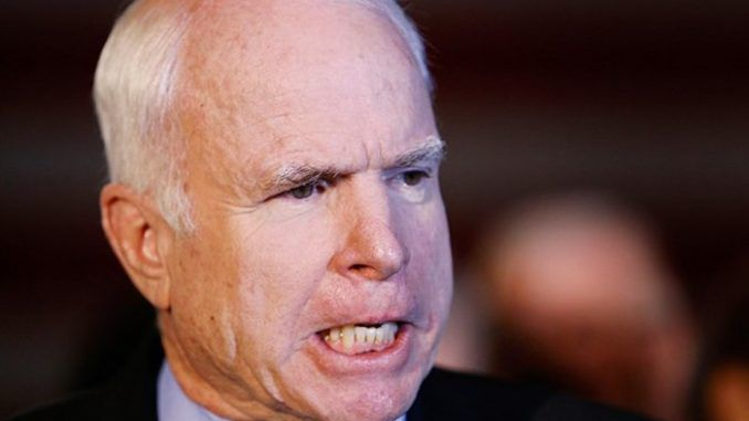 John McCain admits committing treason to oust Trump