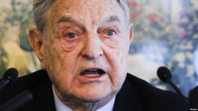 """Billionaire globalist George Soros has publicly threatened to """"take down President Trump"""" at the World Economic Forum in Davos."""