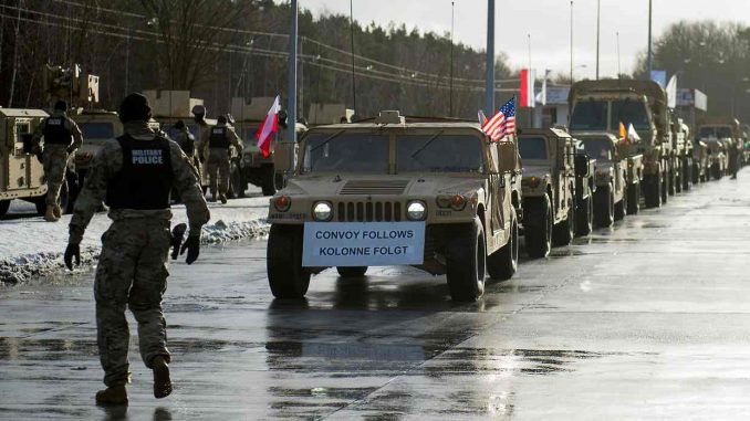 Thousands Of US Troops Arrive In Poland Amid Tension With Russia
