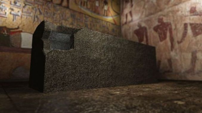 24 strange and sinister coffin-shaped black boxes have been discovered buried in a hillside cave system, 12 miles south of The Great Pyramid of Giza.