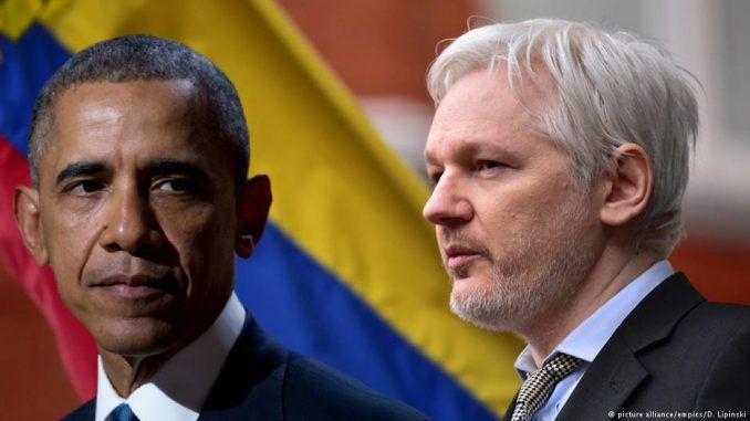 Julian Assange has accused Barack Obama of attempting to destroy public records before he leaves office