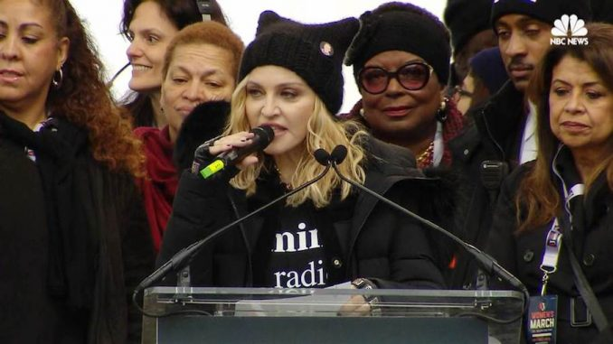 "Madonna used her platform at the Women's March in Washington DC to admit that she recently ""thought about blowing up the White House."""