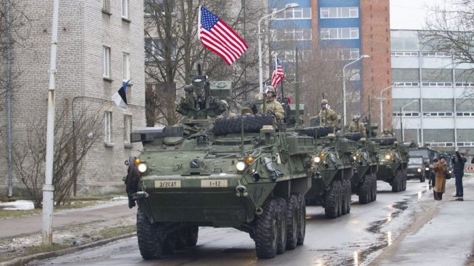 Barack Obama has deployed thousands of troops and tanks to the Russian border in an attempt to spark a military conflict with Russia, just days ahead of Trump's inauguration.