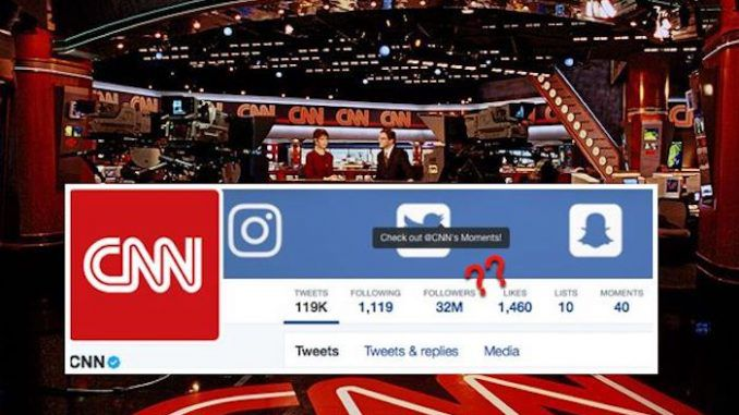 CNN purchases 16 million fake Twitter followers