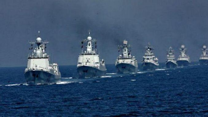 China deploy warships for potential face-off with Trump