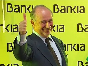Rodrigo Rato, former head of the International Monetary Fund, during Bankia's launch.