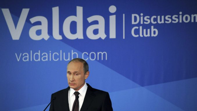 Vladimir Putin says that terrorism is a western invention designed to control citizens