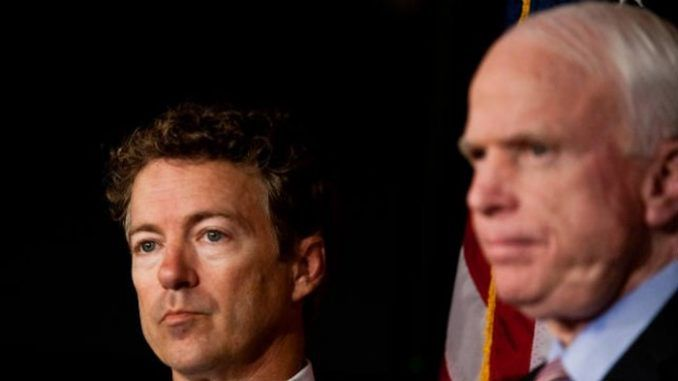 Rand Paul accuses John McCain of being a warmonger