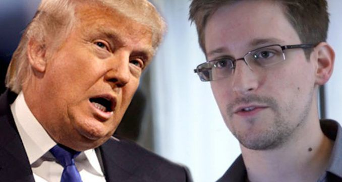 "Edward Snowden may be sent back to America as a ""gift"" to strengthen the relationship between Vladimir Putin and Donald Trump."