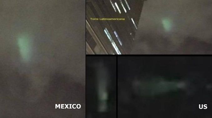 Fleet of UFOs filmed crossing Mexico into USA