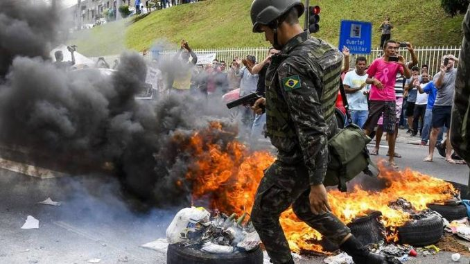 Military deployed as anarchists riot in the streets of Brazil