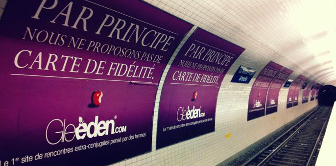 """We do not offer loyalty cards"" reads billboard in Paris subway"