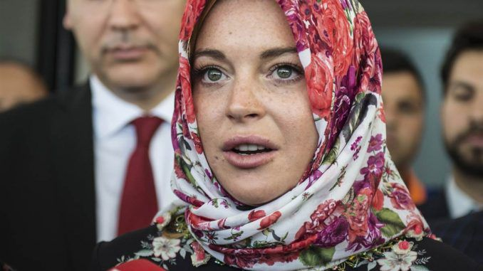Lindsay Lohan claims she has been the victim of discrimination and racial profiling after converting to Islam