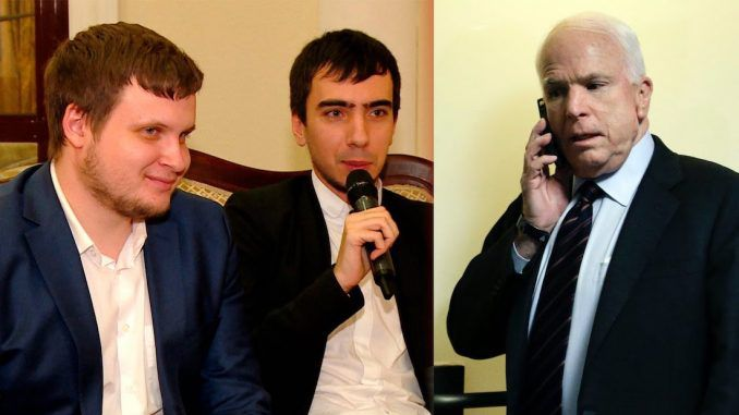 John McCain has been caught breaking the law andflaunting national security by secretly discussing White House sanctions with Russian hackers.