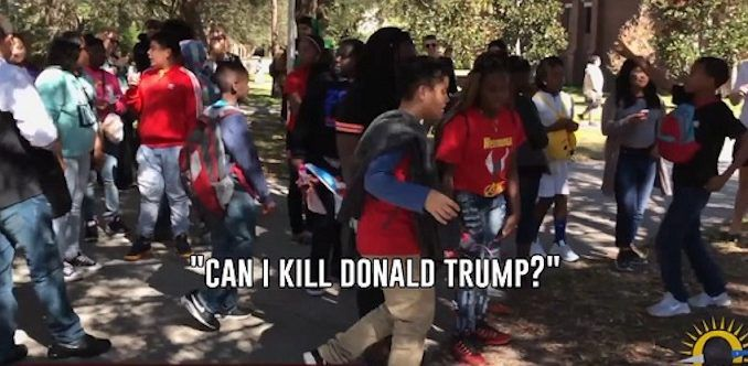 Young U.S. school kids taught to 'kill Trump'