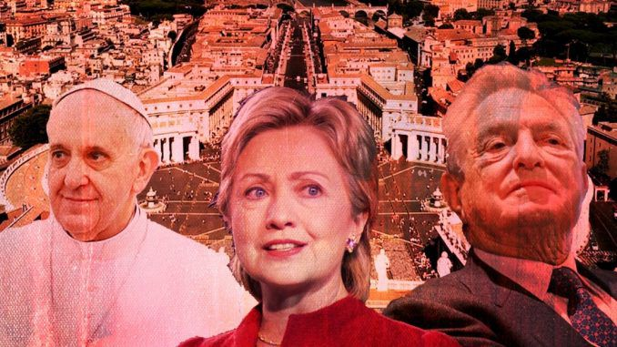 Soros, Obama and Clinton were behind a Vatican coup to remove conservative Pope Benedict and install radical leftist Pope Francis, claim Catholics leaders citing WikiLeaks and other evidence.