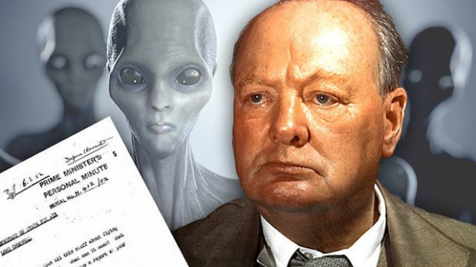 Winston Churchill believed in aliens according to newly found essays written by the former Prime Minister