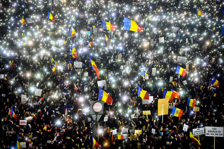 Romanian protests rocked the capital Bucharest for weeks.