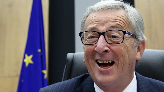 "Jean-Claude Juncker, president of the EU, threatened to ""break up the United States"" by campaigning for Texas and Ohio to leave the Union."