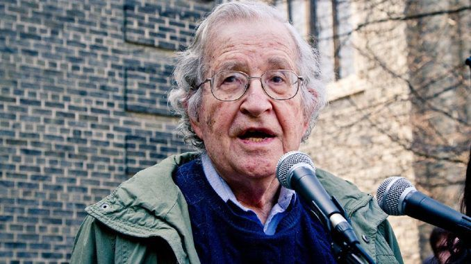 "The rest of the world is ""collapsing in laughter"" at the Democratic Party's attempt to blame ""Russian hacking"" for Hillary Clinton's election loss, according to Noam Chomsky."