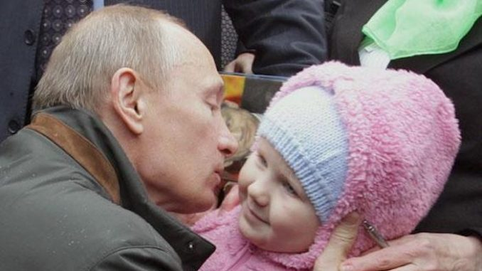 Vladimir Putin has issued an immediate ban on U.S. adults adopting Russian children over fears for the safety of the children due to the pedophilia epidemic plaguing the United States.