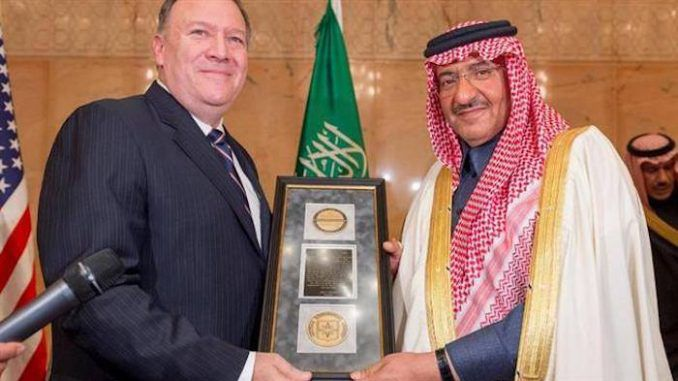 "The CIA has inexplicably awarded ISIS-sponsor Saudi Arabia its most prestigious medal for ""fighting terrorism."""