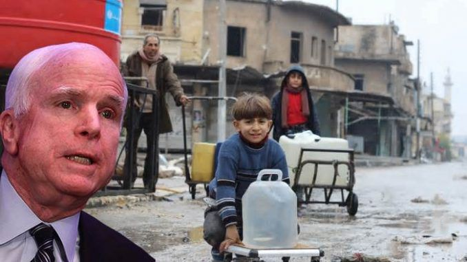John McCain may have ordered a complete water shutdown in Northern Syria