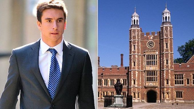 An Eton college student whose elite family lived near the Houses of Parliament, has been spared jail after sharing horrific images and videos of baby rape with his peers.