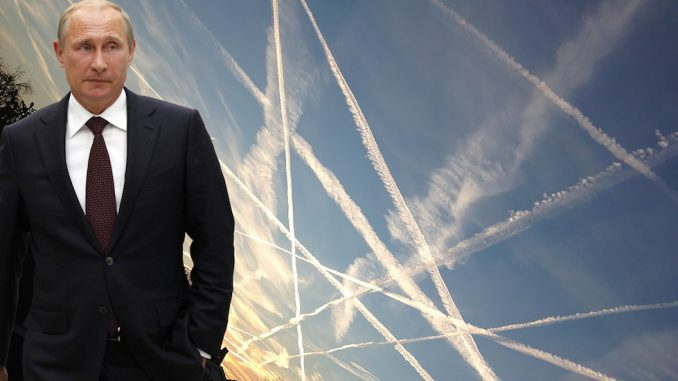 "Putin claims he is ""vindicated"" by recent news reports that Western elites are experimenting with chemtrails."