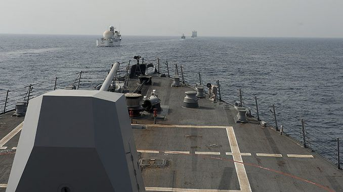 Iranian vessels approach Royal Navy in Strait Of Hormuz