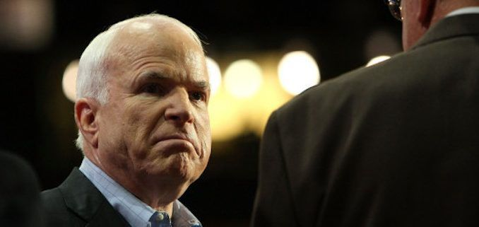 John McCain had a meltdown on the Senate floor Wednesday after being triggered by Rand Paul daring to express a different opinion to his own.