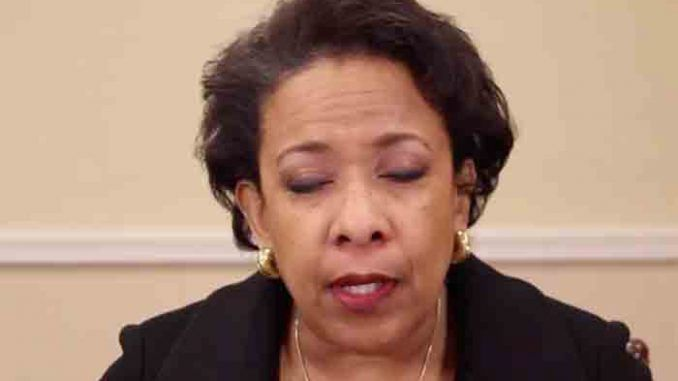 "Former Attorney General Loretta Lynch has called ""marching"", ""blood"" and ""death"" in the streets until President Trump is dragged from office."